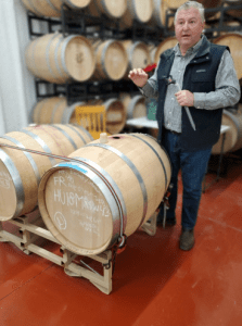 Huston Vineyards Barrel Room