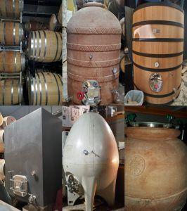 Various wine vats